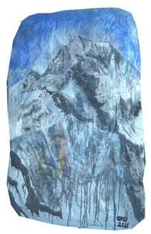 Alpin, Lack auf Pappmaché, 100 x 145 cm