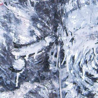 Zeus and  Hera (Ausschnitt), Lack auf  Pappmaché, ca 145 x 100 cm