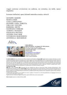 """Galleria Biffi Arte - Piacenza  Antico Nevaio  Dal 20 Gennaio al 18 Febbraio 2018  """"TERRA - Nuovi Dialoghi 3""""  Inaugurazione :  Sabato 20 Gennaio ore 17.00"""