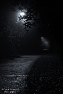 photo de rue de nuit