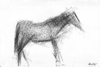 Ohne Titel, 2015, Kohle auf Papier, 21 x 29,7 cm