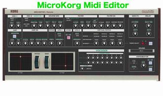 MicroKorg Midi Editor VST / Standalone - MicroKorg Midi