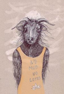 NO MUD NO LOTUS, Zeichnung, ca. A4, 2017