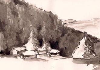 DAVOS   Tusche auf Papier   A5   2012