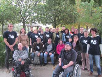 Photo du groupe au complet lors de la journée de sensibilisation avec le groupe Capgemini. Environ 40 personnes