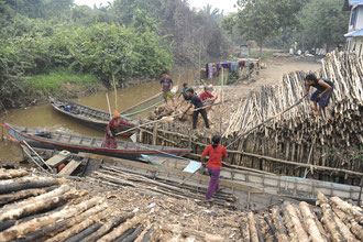 Existenzsicherung durch die Herstellung von Holzkohle und Handel mit Holz