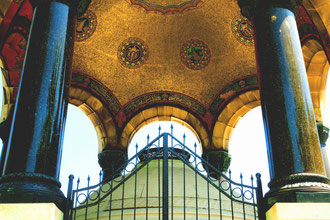 vor der Hagia Sophia in Istanbul