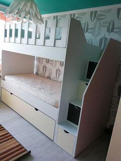 Camarote infantil con cama nido