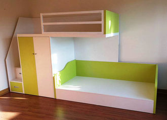 Camarote infantil juvenil con closet