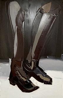 BOOTS, 2013, Öl auf Leinwand, 140 x 90 cm