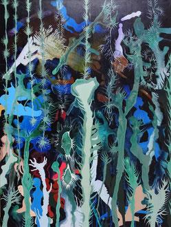 Mystischer Garten 2020, 90 x 120 cm, Acryl auf Leinwand
