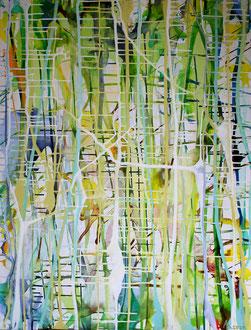 FarbAdern 2021,  90 x 120 cm, Acryl auf Leinwand