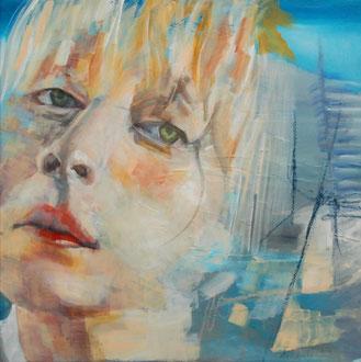 HER (Heads II), Mixed Media auf Leinwand, 60cm x 60cm