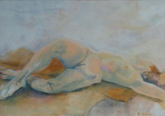 Akt in gelb, Acryl auf Leinwand, 70cm x 100cm