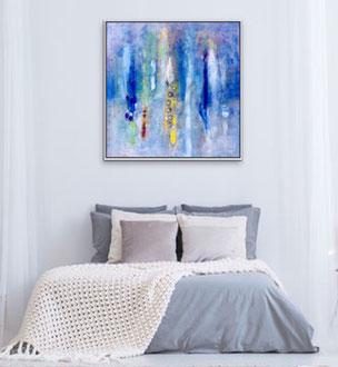 Soavi presenze, 2018, tecnica mista, 100 x 101 cm