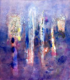 La voix de rêve, 2019, tecnica mista, 101 x 89 cm