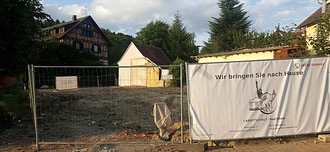 Bauphase 1: Abschluss des Abrissverfahrens und Entnahme der Bodenproben; Stand: 14.07.2017