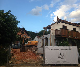Bauphase 1: Abriss des Altobjekts; Stand: 30.06.2017