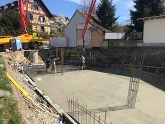 Baufortschritt vom 11.04.2018