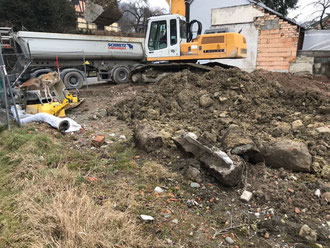Bauphase 2: Aushub der Tiefgarage Stand: 01.03.2018