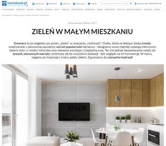 Zieleń w małym mieszkaniu.  projektowanie wnętrz