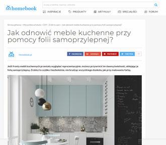 Jak odnowić meble kuchenne przy pomocy folii samoprzylepnej? Publikacja projektu kuchni
