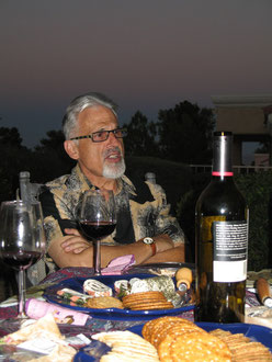Mr.Karr, his wine and fis favourite thing!!
