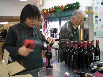 Han han Cho and Mr. Gary Karr (his wine)