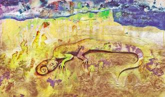 """""""Verwurzelung""""   Öl auf Papier   2001"""