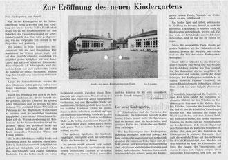 Ausschnitt Bodensee Zeitung zur Eröffnung 1949