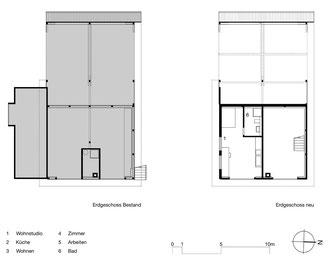 Das kleine Schwarze, Homburg: Erdgeschoss Bestand und Neu