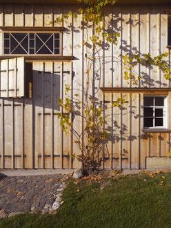 Bauernhaus Im Gupf, Stein: Restaurierte Holzfassade