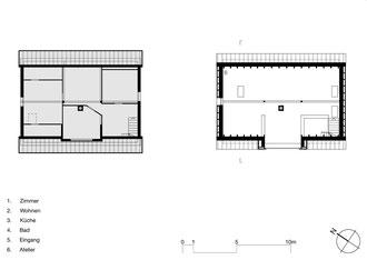 Tonhaus Romanshorn: Obergeschoss alt und neu
