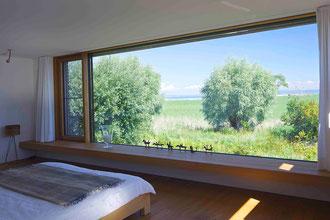 Badhaus Altenrhein: Aussicht Schlafzimmer