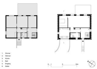 Tonhaus Romanshorn: Erdgeschoss alt und neu
