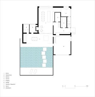 Badhaus Altenrhein: Erdgeschoss