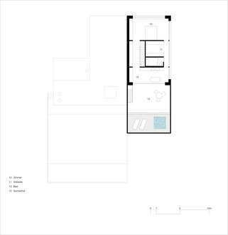 Badhaus Altenrhein: Obergeschoss