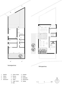 Vier Höfe, Frauenfeld: Grundrisse