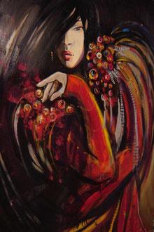Lady in Red (lebensgrösse)