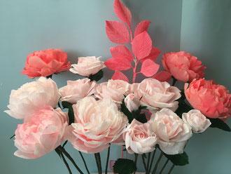 Bouquet de fleurs en papier-réalisation personnalisé ,Créations Maria Salvador