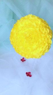 Rose pompon  en papier création atelier Maria'S