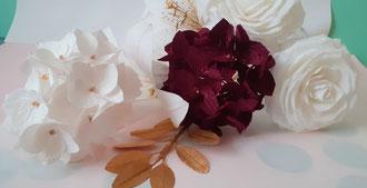 Fleurs réalisées en papier -Atelier Maria Salvador