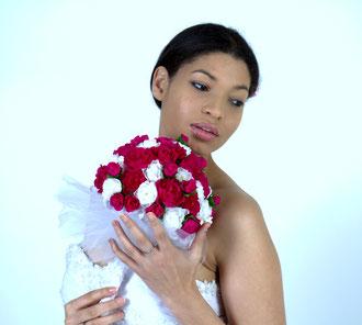 Bouquet de mariée en papier crépon