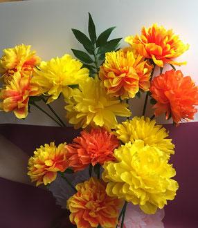Fleur Cempasuchil ou Marigold en papier