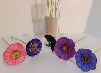 fleurs papier mâché-fabrication artisanal du papier recyclé
