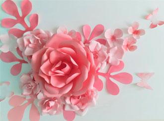 Tableau de fleurs en papier, décoration Maria Salvador