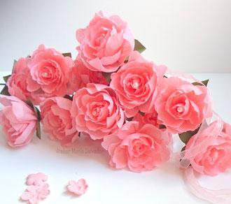 création de fleurs en papier pour  la marque de cosmétiques LOGONA