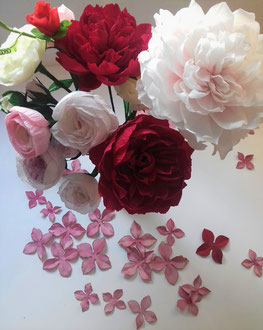 Bouquet artisan. Créations en papier Maria'S décoration à Paris
