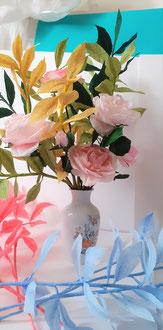 Création bouquet avec du  crépon spéciale fleuriste