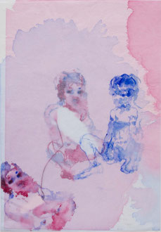 ori no.210   2013   48.6 x 33.8 cm  Watercolors, Japanese paper